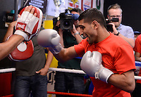 Dec 11,2012.  Montebello CA. USA.  Amir Khan works out for the press during a media day Tuesday afternoon.  Amir Khan will be fighting Carlos Molina this Saturday night at the Los Angeles Sports Arena live on ShowTime. .Photo By Gene Blevins/LA Daily News