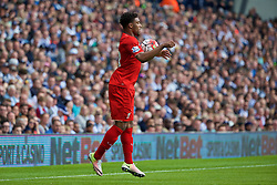WEST BROMWICH, ENGLAND - Sunday, May 15, 2016: Liverpool's Jordon Ibe in action against West Bromwich Albion during the final Premier League match of the season at the Hawthorns. (Pic by David Rawcliffe/Propaganda)