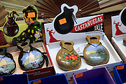 Traditional Spanish castanets  in shop window, city of Valencia, Spain