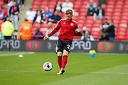 Ben Osborn of Sheffield United warming up for the the Premier League match between Sheffield United and Crystal Palace at Bramall Lane, Sheffield, England on 18 August 2019.