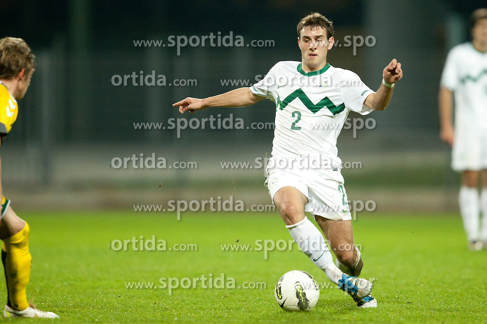 Boban Jovic of Slovenia(U21) during football game between National teams of Slovenia U21 and Lithuania U21 in Group 2 Qualifications of UEFA European Under-21 Championship Israel 2013, on November 10, 2011, at Nova Gorica Sports Park, Slovenia. (Photo by Urban Urbanc / Sportida.com)