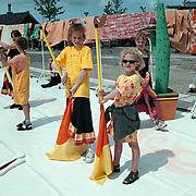 Havendag 2001 Huizen, Robin Dekker aan het oefenen bij de The Pride