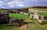 Roman mile castle border checkpoint near Housesteads, Northumberland, England