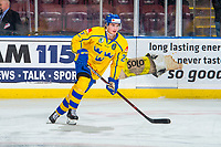 KELOWNA, BC - DECEMBER 18:  Nils Höglander #21 of Team Sweden warms up against the Team Russia at Prospera Place on December 18, 2018 in Kelowna, Canada. (Photo by Marissa Baecker/Getty Images)***Local Caption***