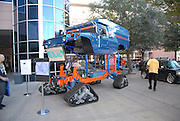 This hummer easily takes the title for the tallest vehicle at SEMA