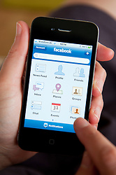 using Facebook app on an iPhone 4G smart phone