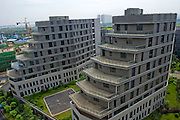 WUHAN, CHINA - JULY 20: (CHINA OUT) <br /> <br /> Buildings with the shape of shoe appears at Optics Valley core center in Wuhan, Hubei Province of China. <br /> ©Exclusivepix