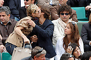 27.MAY.2011. FRANCE<br /> <br /> LA CHANTEUSE LORIE, ANOUCHKA DELON AND SON AMI JULIEN DEREIMS AT THE TENNIS FRENCH OPEN 2011 AT ROLAND GARROS IN FRANCE.<br /> <br /> BYLINE: EDBIMAGEARCHIVE.COM<br /> <br /> *THIS IMAGE IS STRICTLY FOR UK NEWSPAPERS AND MAGAZINES ONLY*<br /> *FOR WORLD WIDE SALES AND WEB USE PLEASE CONTACT EDBIMAGEARCHIVE - 0208 954 5968*