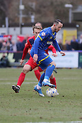 Rhys Murphy of AFC Wimbledon during Sky Bet League 2 match between AFC Wimbledon and York City at the Cherry Red Records Stadium, Kingston, England on 19 March 2016. Photo by Stuart Butcher.