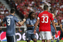 September 19, 2018 - Lisbon, Portugal - Renato Sanches of Bayern Munchen  (C) after scoring his team's second goal during Champions League 2018/19 match between SL Benfica vs FC Bayern Munchen, in Lisbon, on September 19, 2018. (Credit Image: © Carlos Palma/NurPhoto/ZUMA Press)