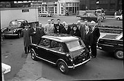04/02/1964<br /> 02/04/1964<br /> 04 February 1964<br /> Presentation of Austin 7 by Lincoln and Nolan at the Mansion House, Dublin. Presentation of Austin 7 by Mr H.M. Brierley, Managing Director of Lincoln and Nolan Ltd. to St. Mary's School for the Blind, included are The Lord Mayor of Dublin, Alderman Sean Moore TD; Mother Mary Laurentia, Superior St. Mary's and Sister Mary Josephine.