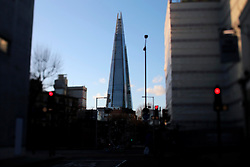 UK ENGLAND LONDON 2FEB14 - View of the Shard from near Tower Bridge, central London.<br /> <br /> <br /> <br /> jre/Photo by Jiri Rezac<br /> <br /> <br /> <br /> &copy; Jiri Rezac 2014