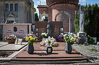 VERBANIA, ITALY - 18 APRIL 2017: The Morano family tomb, where Emma Morano was buried, is seen here in Verbania, Italy, on April 18th 2017.<br /> <br /> Emma Morano, born in 1899, was an Italian supercentenarian who, prior to her death at the age of 117 years and 137 days, was the world's oldest living person whose age had been verified, and the last living person to have been verified as being born in the 1800s. She died on April 15th 2017.