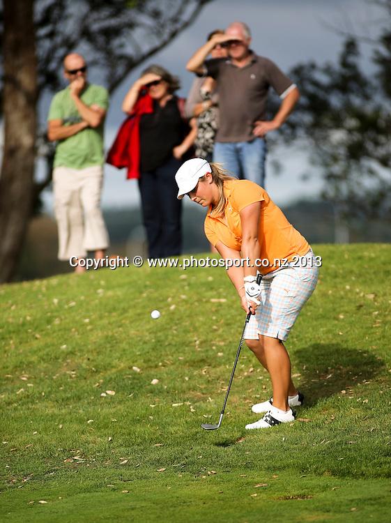 Hanna Seifert on the final day of the Taranaki Energy Open, New Plymouth Golf Club, New Zealand. Sunday 14 April, 2013. Photo: John Cowpland / photosport.co.nz
