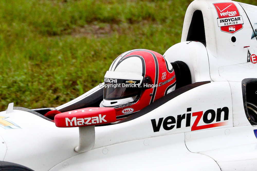 Apr 12, 2015; Avondale, LA, USA;  IndyCar driver Helio Castroneves during the Grand Prix of Louisiana at the Nola Motorsports Park. (Photo by: Derick E. Hingle)