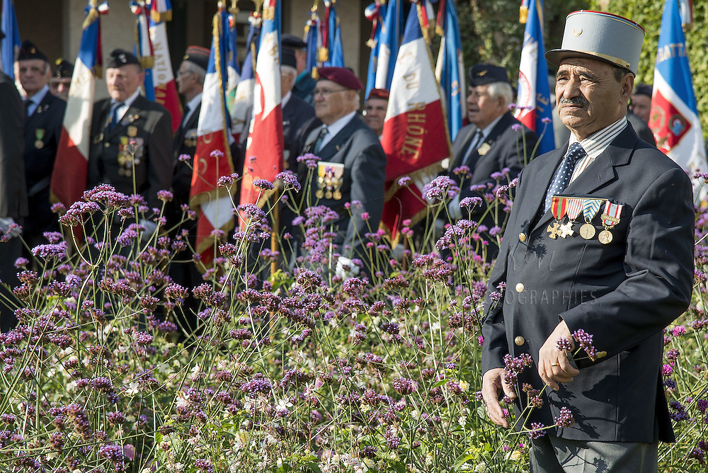 At the National Harkis Day, few old Harkis attend homage ceremony at Oran's Memorial monument, in La Duchere, Lyon.