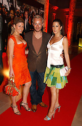 Left to right, HOFIT GOLAN, SCOTT HENSHALL and PRINCESS TAMARA CZARTORYSKI-BOURBON at the 5th anniversary party for InStyle magazine held at The V&A, Cromwell Road, London SW7 on 19th June 2006.<br />