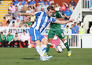 Picture by Paul  Gaythorpe/Focus Images Ltd +447771 871632.08/09/2012.Neil Austin of Hartlepool United takes a free-kick against Carlisle United during the npower League 1 match at Victoria Park, Hartlepool.