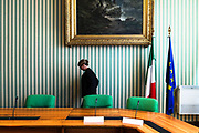 Press room of the italian Ministry of Justice. Rome 3 October 2017. Christian Mantuano / OneShot