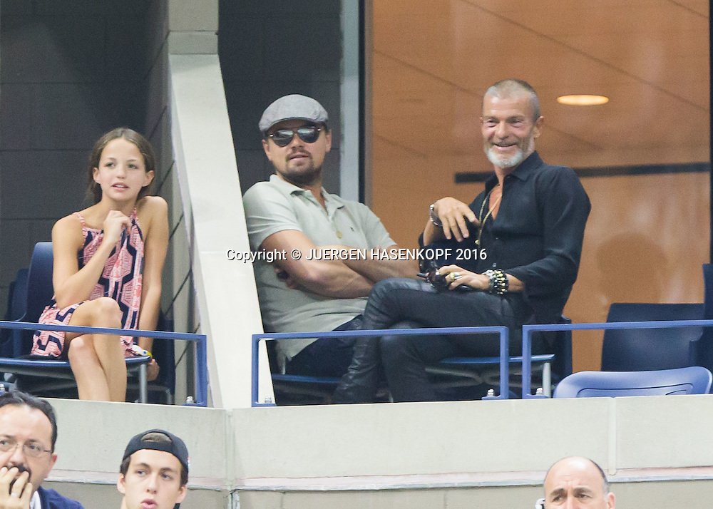 US Open 2016 Feature,Leonardo Di Caprio als Zuschauer in einer Loge,<br /> <br /> <br /> Tennis - US Open 2016 - Grand Slam ITF / ATP / WTA -  USTA Billie Jean King National Tennis Center - New York - New York - USA  - 11 September 2016.