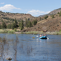 Rafting on the John Day River near Service Creek, Oregon