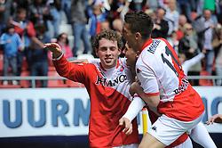 16-05-2010 VOETBAL: FC UTRECHT - RODA JC: UTRECHT<br /> FC Utrecht verslaat Roda in de finale van de Play-offs met 4-1 en gaat Europa in / Ricky van Wolfswinkel, Dries Mertens en Barry Maguire<br /> ©2010-WWW.FOTOHOOGENDOORN.NL