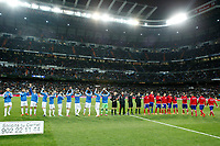 Real Madrid´s  and Atletico de Madrid´s during King´s Cup (Copa del Rey) semifinal match in Santiago Bernabeu stadium in Madrid, Spain. February 05, 2014. (ALTERPHOTOS/Victor Blanco)