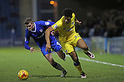 AFC Wimbledon striker Lyle Taylor (33) during the EFL Sky Bet League 1 match between Gillingham and AFC Wimbledon at the MEMS Priestfield Stadium, Gillingham, England on 21 February 2017.