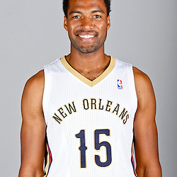 Sep 30, 2013; Metairie, LA, USA; New Orleans Pelicans small forward Lazar Hayward (15) poses for a portrait at Pelicans Practice Facility. Mandatory Credit: Derick E. Hingle-USA TODAY Sports