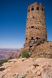 The Grand Canyon Watch Tower overlooks the southern rim of the Grand Canyon, Grand Canyon National Park, Arizona.