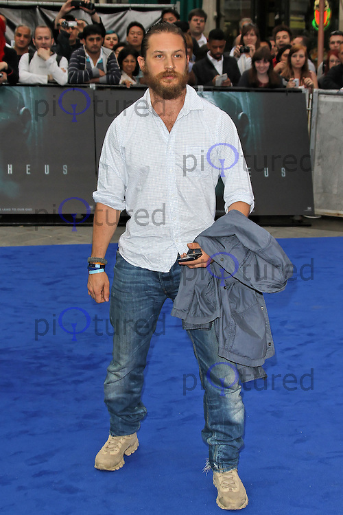 LONDON - MAY 31: Tom Hardy attends the World Film Premiere of 'Prometheus' at the Empire Cinema, Leicester Square, London, UK. May 31, 2012. (Photo by Richard Goldschmidt)