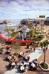 Aerial view of the Kemah boardwalk