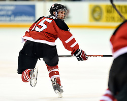 William Bitten of the Plymouth Whalers represented Team Canada Red at the World Under-17 Hockey Challenge in Sarnia and Lambton, ON November 2-8, 2014. Photo by Aaron Bell/CHL Images