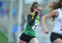 21 Aug 2016:  Girls U16 200m final. 2016 Community Games National Festival 2016.  Athlone Institute of Technology, Athlone, Co. Westmeath. Picture: Caroline Quinn