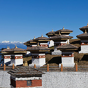 Druk Wangyal Chortens at Dochula on Thimphu-Punakha road, Bhutan, Asia