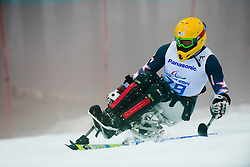 Jasmin BAMBUR competing in the Alpine Skiing Super Combined Slalom at the 2014 Sochi Winter Paralympic Games, Russia