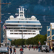 The Norwegian Pearl docked in Skagway, Alaska which has a population of under 1000, however, the population doubles in the summer tourist season in order to deal with more than 900,000 visitors mostly from cruise ships. <br /> Photography by Jose More