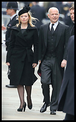 William Hague and wife arriving for  Baroness Thatcher's  funeral at  St.Paul's Cathedral in London  Wednesday 17th  April 2013 Photo by: Stephen Lock / i-Images