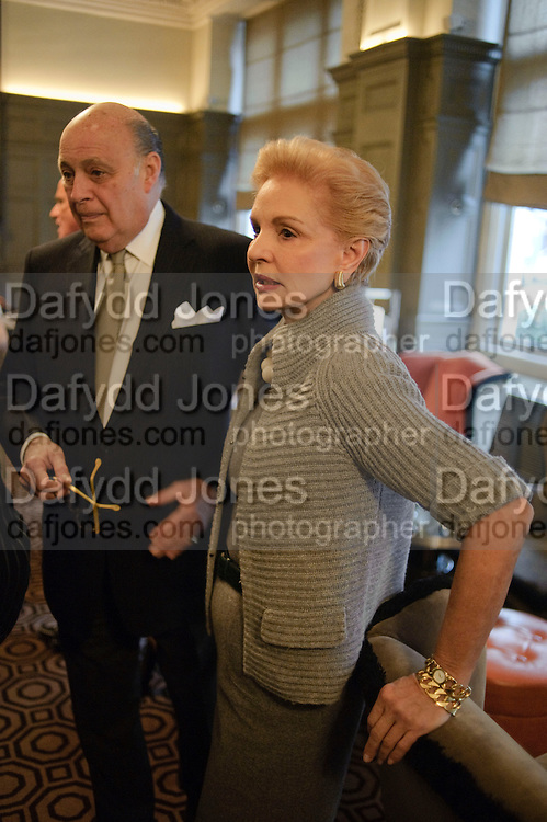 REINALDO HERRRERA; CAROLINA HERRERA, Graydon and Anna Carter host a lunch for Carolina Herrera to celebrate the ipening of her new shop on Mount St. .The Connaught. London. 20 January 2010