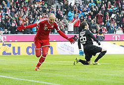 30.11.2013, Allianz Arena, Muenchen, GER, 1. FBL, FC Bayern München vs Eintracht Braunschweig, 14. Runde, im Bild Torjubel von Arjen ROBBEN #10 (FC Bayern Muenchen) // during the German Bundesliga 14th round match between FC Bayern München vs Eintracht Braunschweig at the Allianz Arena in Muenchen, Germany on 2013/11/30. EXPA Pictures © 2013, PhotoCredit: EXPA/ Eibner-Pressefoto/ Kolbert<br /> <br /> *****ATTENTION - OUT of GER*****