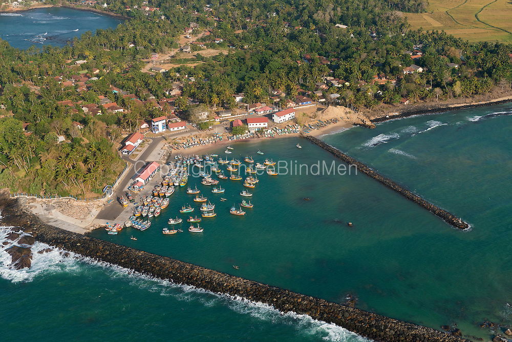 The Island from Above. Kottegoda Fishing harbour. near Tangalla.