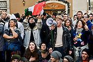 Roma 11  Dicembre 2013<br /> Manifestazione del Movimento dei forconi  a Roma, contro i politici contro euro e questo modello di Europa, davanti Montecitorio<br /> Rome, December 11, 2013<br /> Manifestation of the Movement pitchforks in Rome, against the politicians against the euro and this model of Europe, before Montecitorio