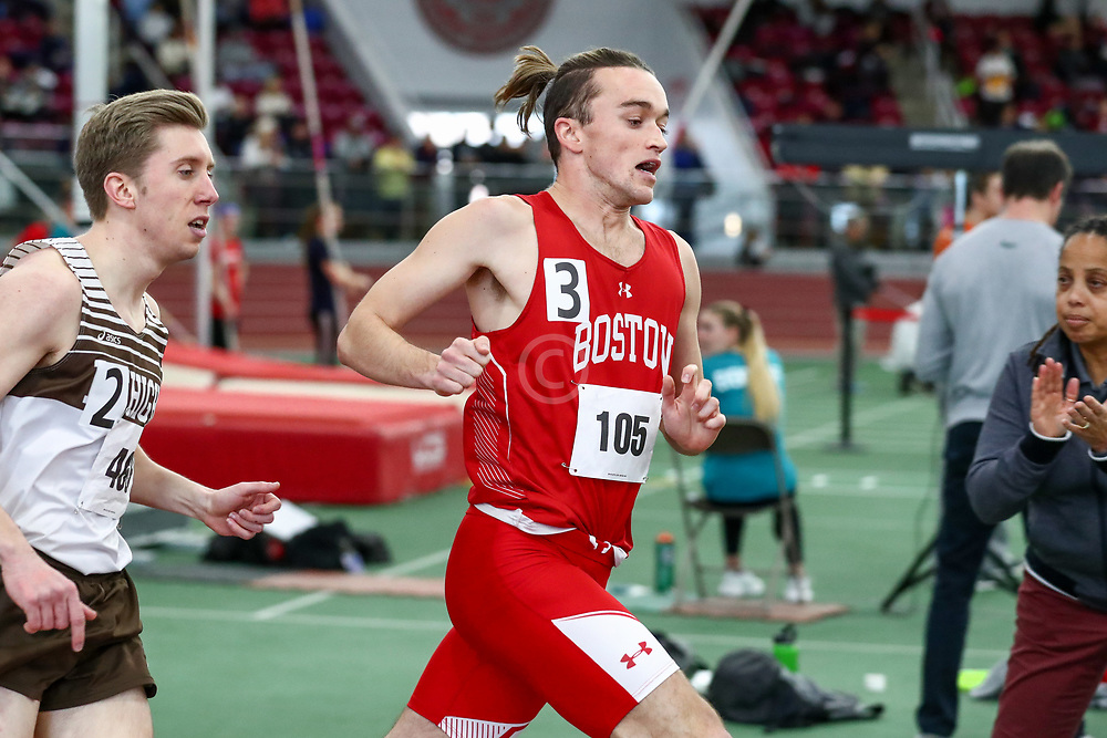 mens 1000 meters, 2, BU, Johnny Kemps<br /> Boston University Scarlet and White<br /> Indoor Track & Field, Bruce LeHane