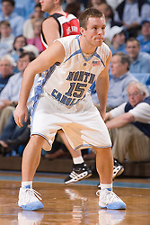 28 December 2006: North Carolina Tarheel guard (15) Dewey Burke during a 87-48 Rutgers Scarlet Knights loss to the North Carolina Tarheels, in the Dean Smith Center in Chapel Hill, NC.<br />