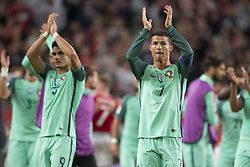 September 3, 2017 - Budapest, Hungary - Cristiano Ronaldo of Portugal thanks his fans during the FIFA World Cup 2018 Qualifying Round match between Hungary and Portugal at Groupama Arena in Budapest, Hungary on September 3, 2017  (Credit Image: © Andrew Surma/NurPhoto via ZUMA Press)