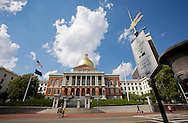 UNITED STATES-BOSTON- The Massachusetts State House, part of The Freedom Trail..VERENIGDE STATEN-BOSTON-The Massachusetts State House, onderdeel van The Freedom Trail. Een wandelroute lang historische plekken in de stad. PHOTO COPYRIGHT GERRIT DE HEUS