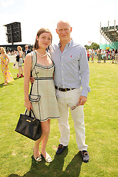 CAMILLA RUTHERFORD and DOMINIC BURNS at the Cartier International Polo at Guards Polo Club, Windsor Great Park, Berkshire on 25th July 2010.