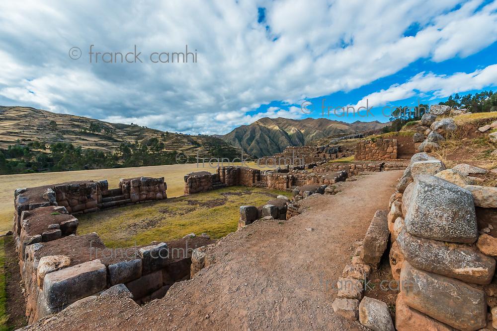 Chincheros, incas ruins in the peruvian Andes at Cuzco Peru
