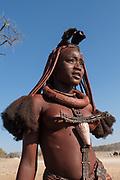 Young Himba woman, Kaokoland, Namibia, Africa