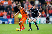 Dundee United midfielder Billy King (#11) shields the ball from Dundee defender Cammy Kerr (#2) during the Betfred Scottish Cup group stage match between Dundee and Dundee United at Dens Park, Dundee, Scotland on 29 July 2017. Photo by Craig Doyle.